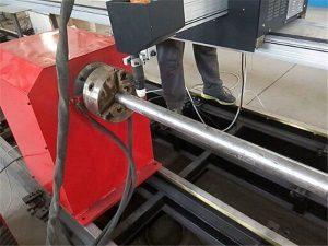 2018 نوع جديد المحمولة آلة قطع الأنابيب المعدنية البلازما ، CNC آلة قطع أنبوب معدني