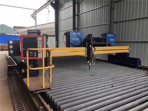 الآلي CNC آلة قطع البلازما مزدوجة القيادة 4M سبان 15M القضبان
