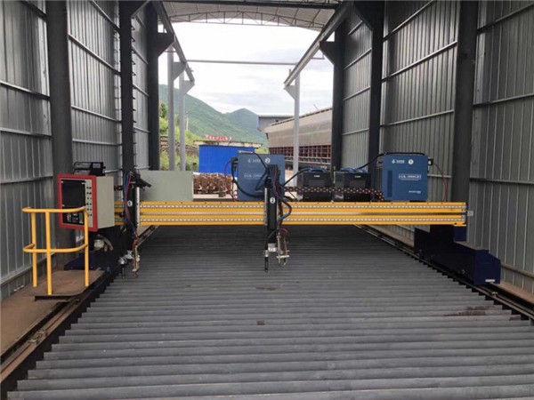 الدقة CNC آلة قطع البلازما دقيقة 13000mm مع محرك سيرفو